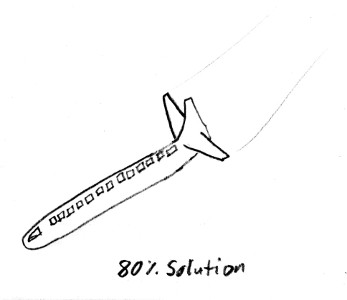 An 80% solution aeroplane with no wings