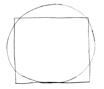 A vitruvian square and circle
