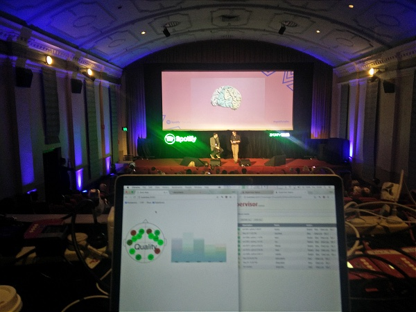 Mind Music on stage at the Spotify conference